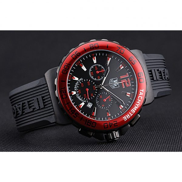 Tag Heuer Formula 1 Chronograph Black Dial Red Bezel Red Numerals 622407 Replica Review
